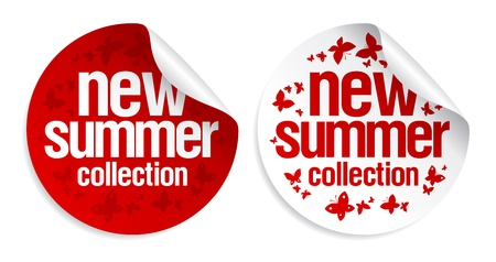 New summer collection stickers set  Vector