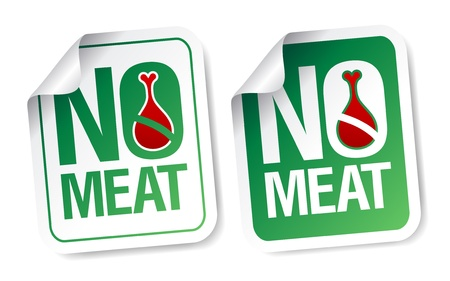 haunch: No meat stickers set