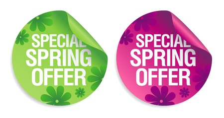 special: Special spring offer stickers set