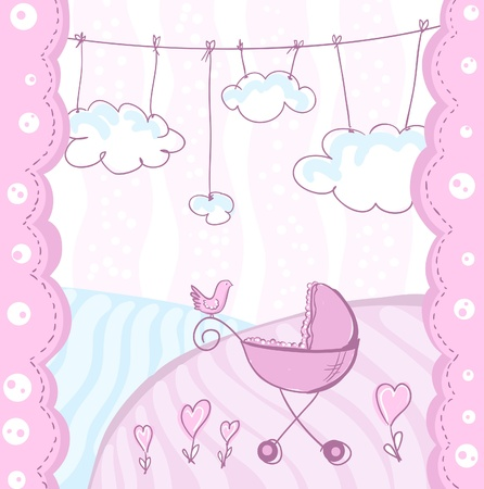 Card for baby arrival  Vector