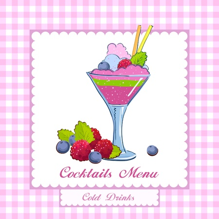 food and drink holiday: Coctails Menu Card Design template