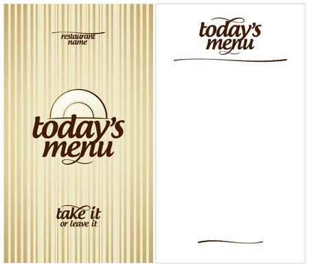 Today s Menu Card Design template  Stock Vector - 13514066