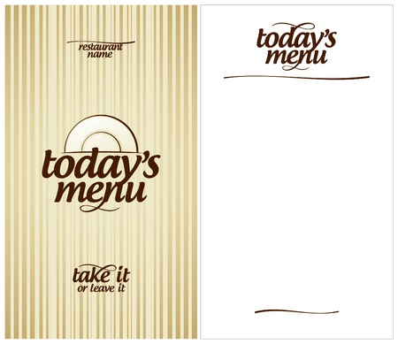 today: Today s Menu Card Design template  Illustration