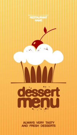Dessert Menu Card Design template. Vector
