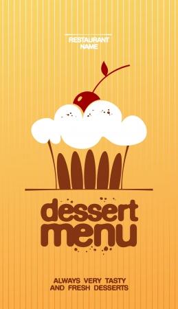 Dessert Menu Card Design template. Vector