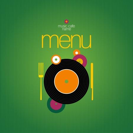 Music Cafe Menu Card Design template. Stock Vector - 13716678