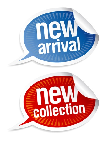 speech marks: New collection stickers set in form of speech bubbles.