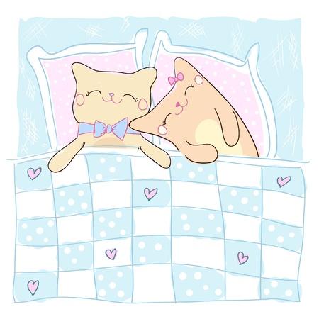 my dear: Biglietto di auguri per la persona amata con i gatti a pelo carino