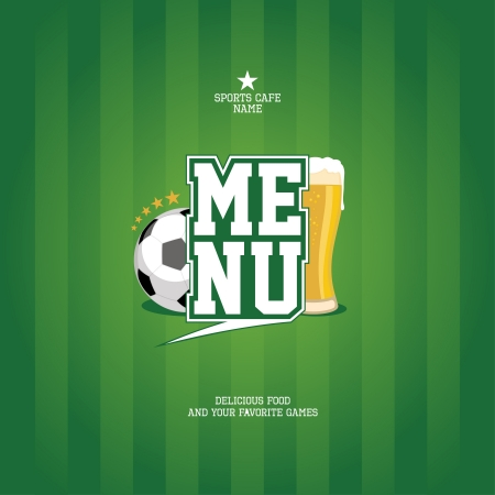 Sports Bar Menu card design template   Vector