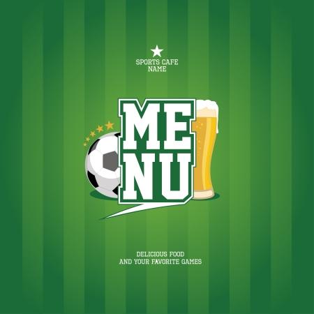 sports bar: Sports Bar Menu card design template   Illustration