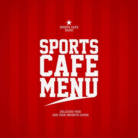 Sports Cafe Menu card design template   Vector