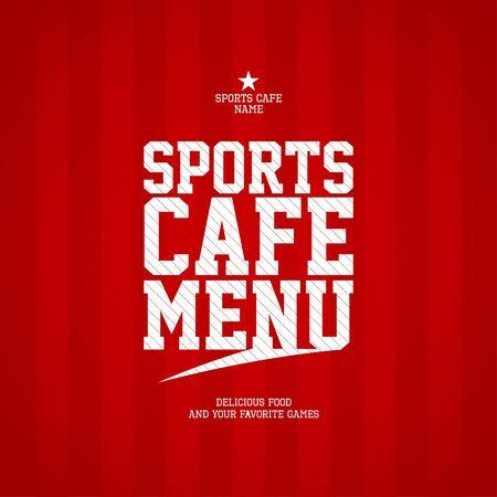 Sports Cafe Menu card design template Vetores