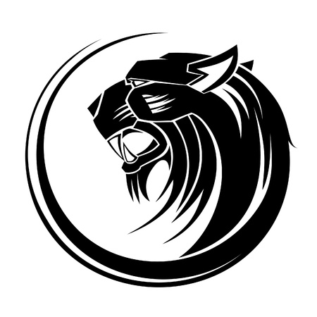Lion circle tribal tattoo art  Vector