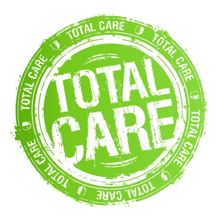 hair product: Total care rubber stamp  Illustration