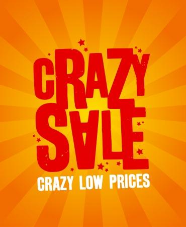 Crazy sale design template.