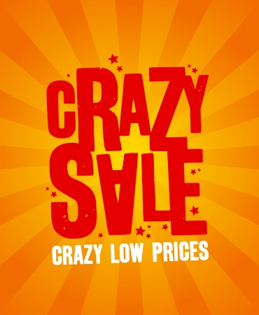 Crazy sale design template. Vector