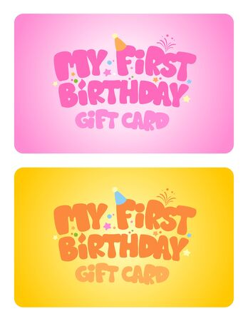 Birthday gift cards design template. Vector