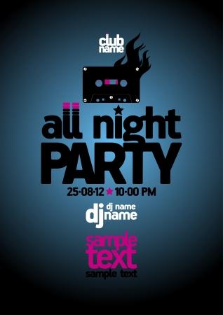 Tout modèle de conception Night Party avec place pour le texte Vecteurs