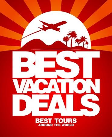 luxury travel: Las mejores vacaciones ofertas de plantilla de dise�o publicitario.