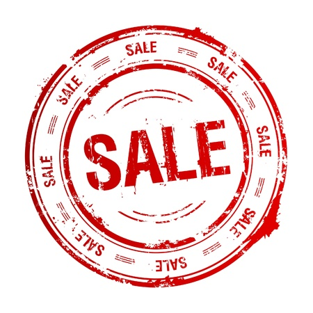 post stamp: Sale timbro di gomma.