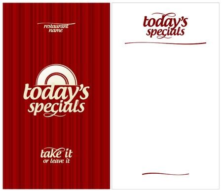 Today`s Menu Card Design template. Vector