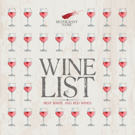 Wine List Menu Card Design template. Stock Vector - 14334747