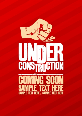 construction icon: Under construction design template.