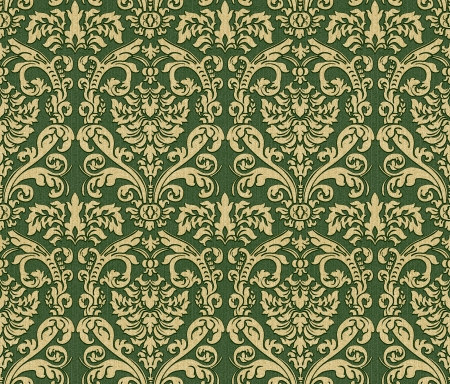 gold leafs: Seamless damask wallpaper background