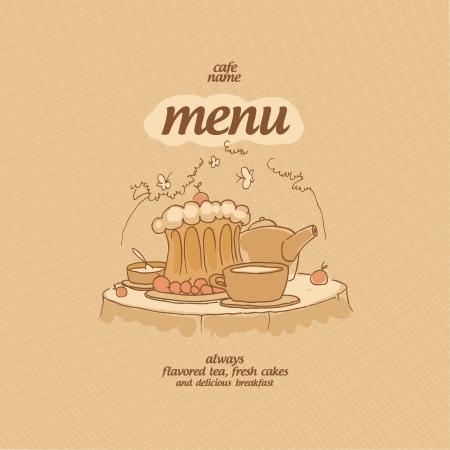 Cafe Menu Card Design template