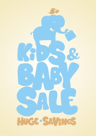 Sale children Vector