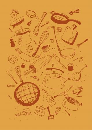 Vector illustraition van keukengerei