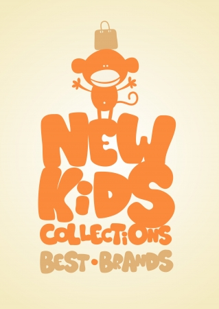 New kids collections funny design template  Vector