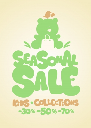 Seasonal sale children Vector