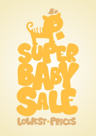 Super sale children Vector