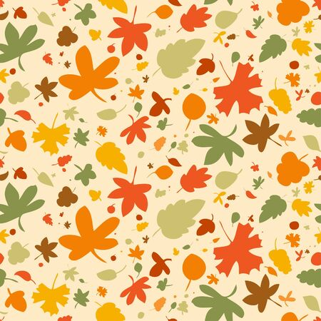 Autumn seamless background, vector illustration  Stock Vector - 14755159