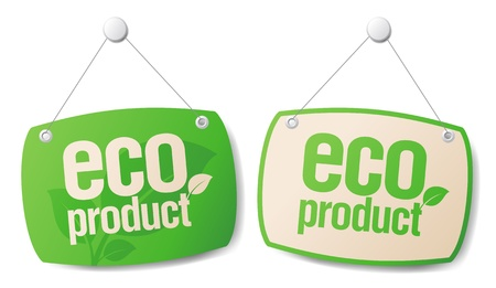 Eco product boards set  Stock Vector - 14755157