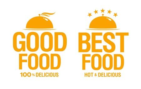 Best delicious food, vector signs Stock Vector - 14755119