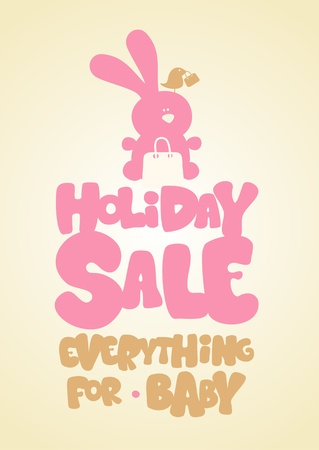 Holiday sale children Vector