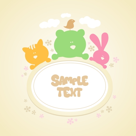 Template for baby Vector Illustration