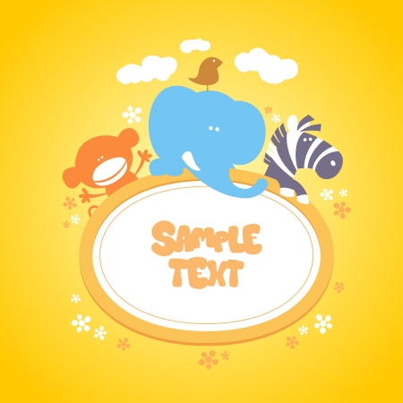 Template for baby Stock Vector - 14755165