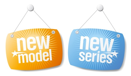 New model, new series vector signs
