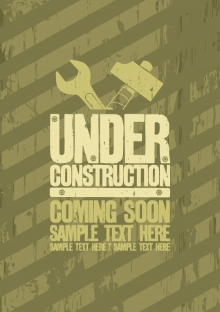construction background: Under construction design template