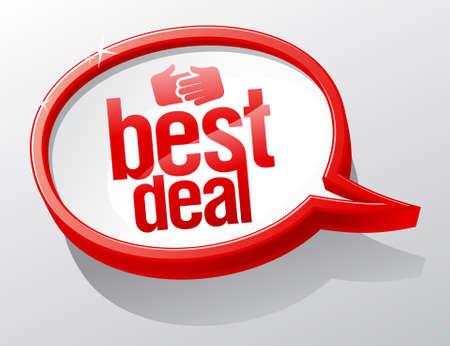 Best deal shiny glass speech bubble Stock Vector - 14829566