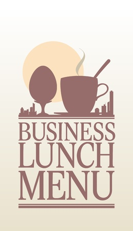 Business Lunch Menu Card Design template  Vector