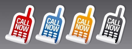 Call now stickers set  Vector