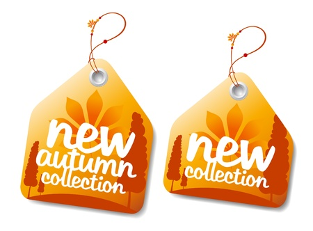 clothe: New autumn collection labels  Illustration