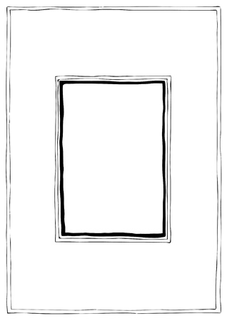 Hand drawn vector framework, cartoon style  Иллюстрация