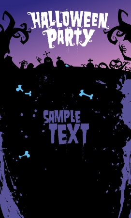 Halloween background for party invitation, with place for text  Vector