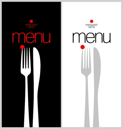 dl: Restaurant Menu Card Design template.  Illustration