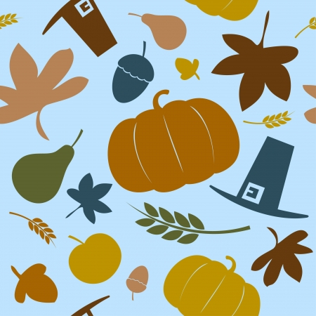 fall harvest: Autumn seamless background, Thanksgiving day  Illustration